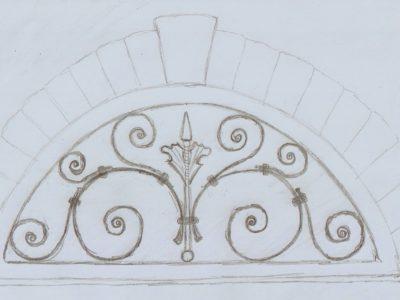 Krata/Portal nad drzwi