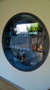 barek szkło nowoczesny design wnętrza kowalstwo